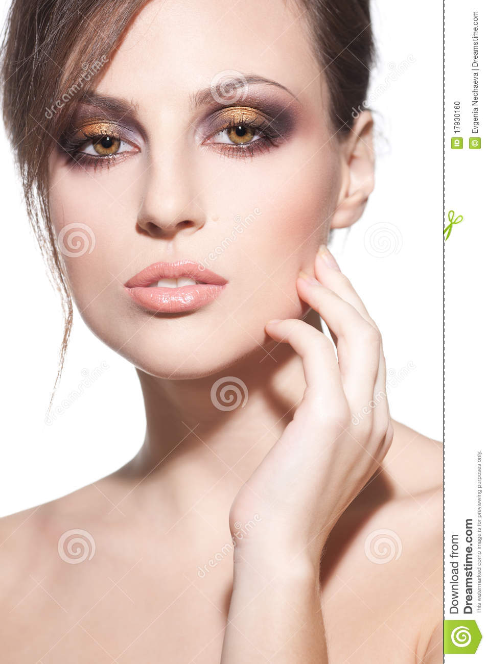 Face Of A Beautiful Young Girl Stock Photo