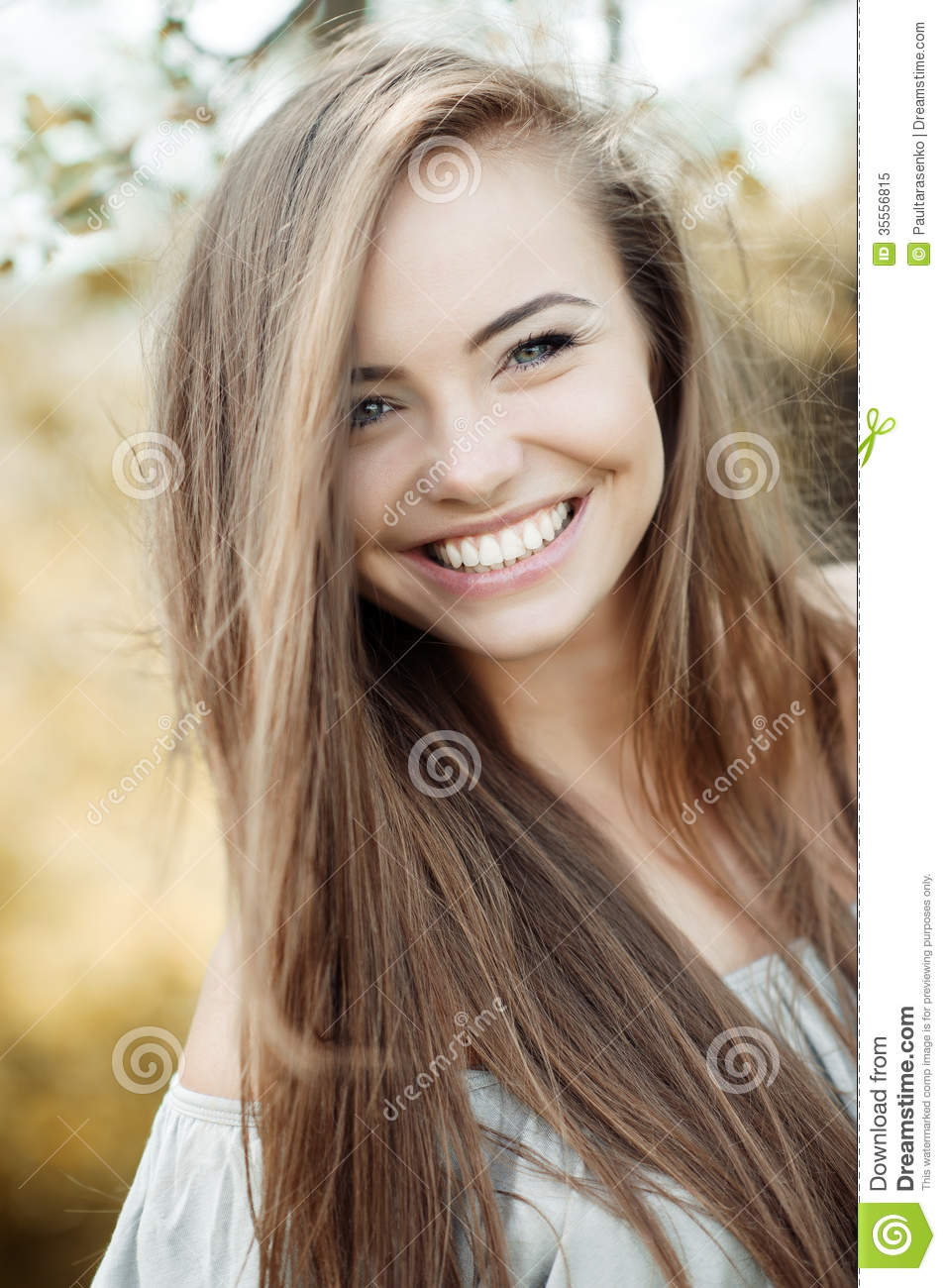 Beautiful Woman Face Smiling Beautiful girl face - outdoor