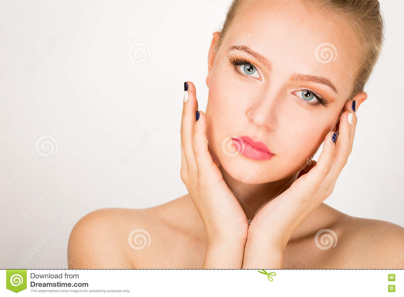 Face of a beautiful young woman