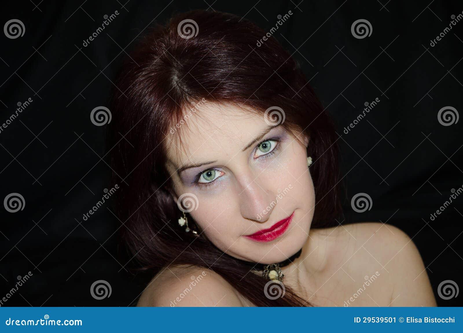 Face bonita da mulher