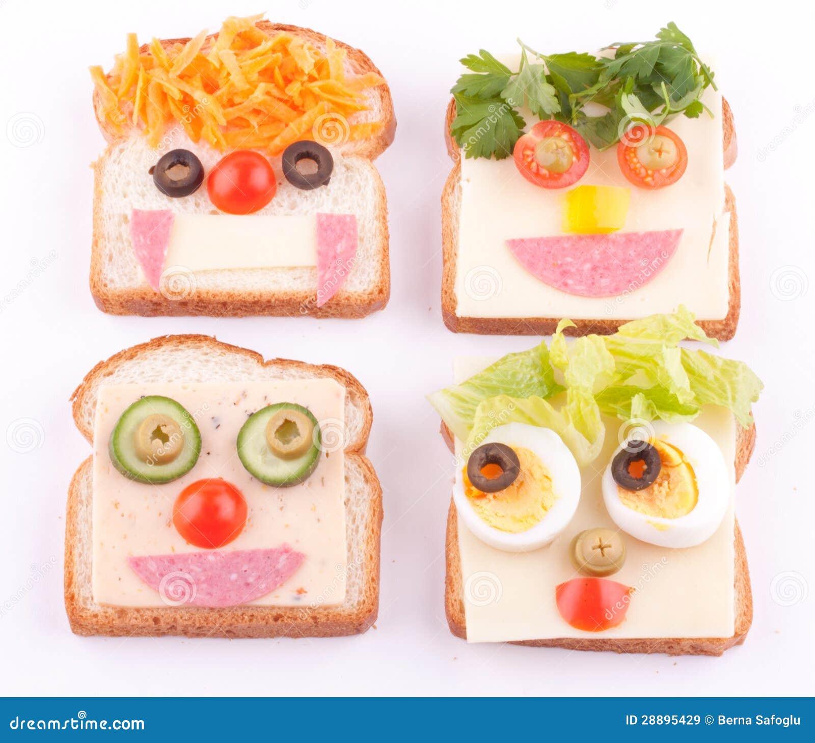 Face on bread