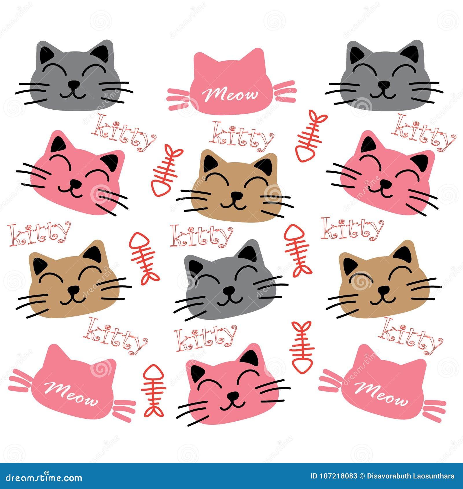 Cat Wallpaper Background Stock Vector Illustration Of Kitty