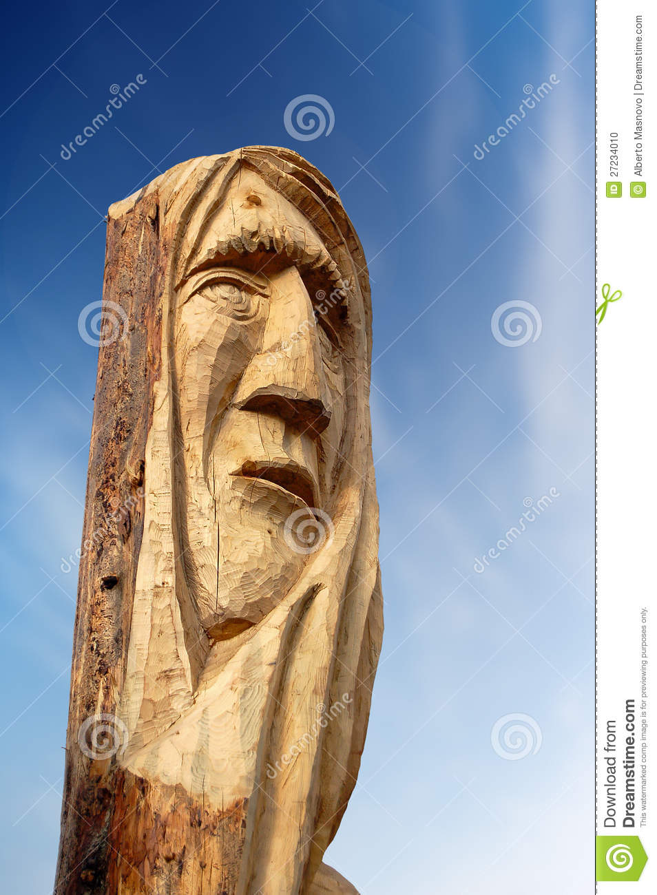 Face Carved on Tree Trunk stock photo. Image of sculpture ...