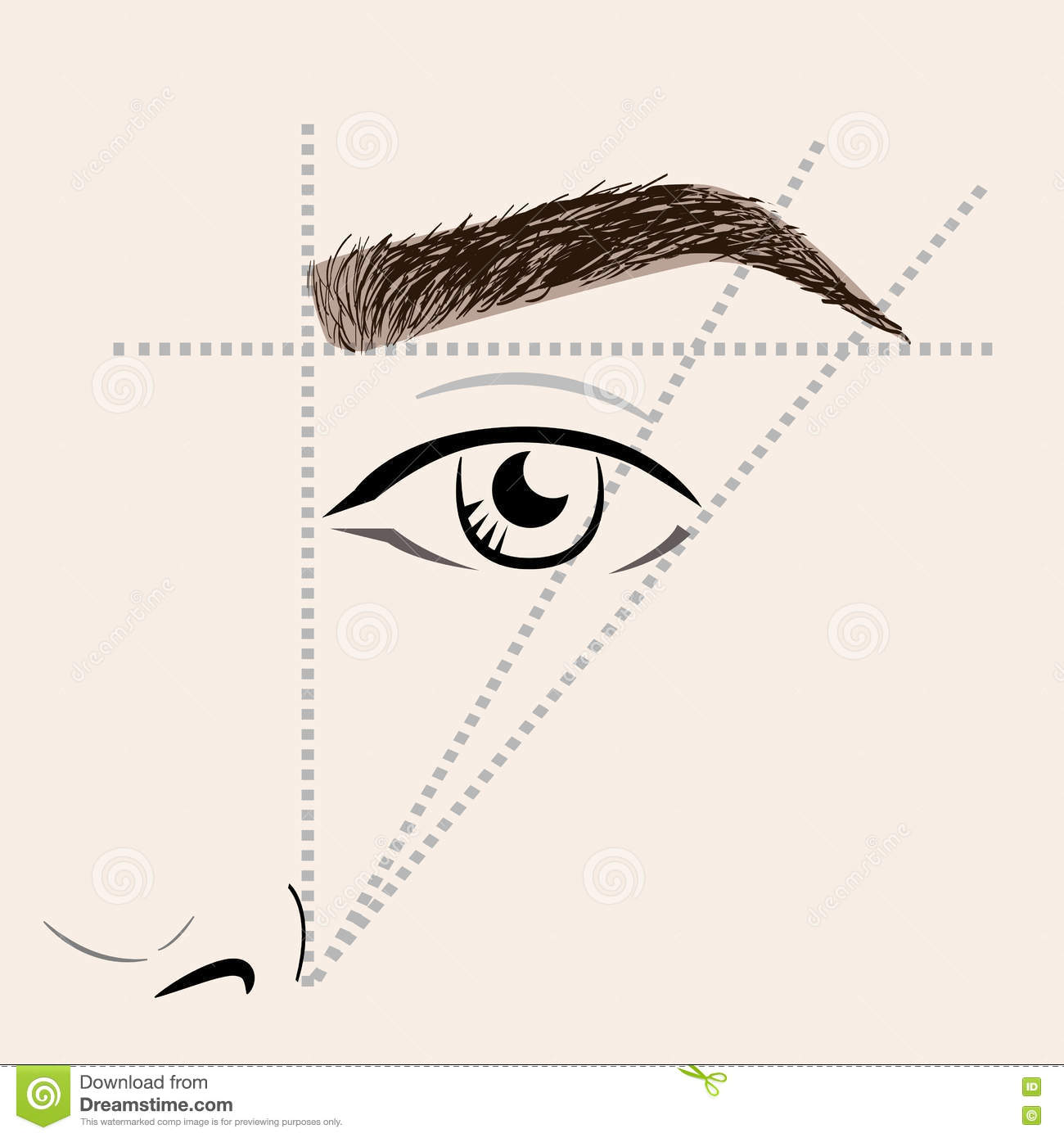 It is a photo of Divine Free Printable Eyebrow Stencils Pdf