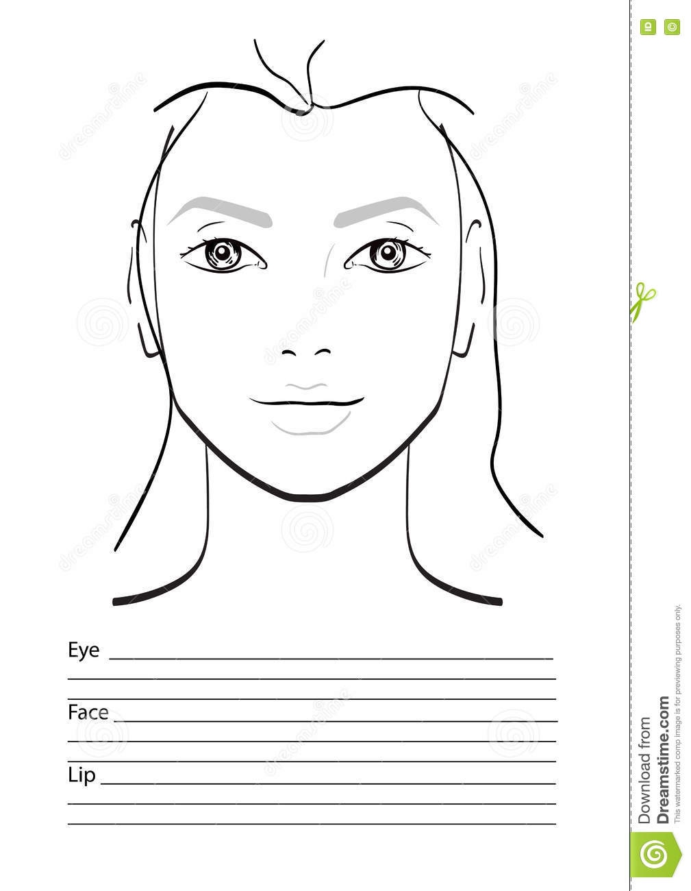 Face chart makeup artist blank stock illustration illustration of download face chart makeup artist blank stock illustration illustration of beauty eyebrows maxwellsz