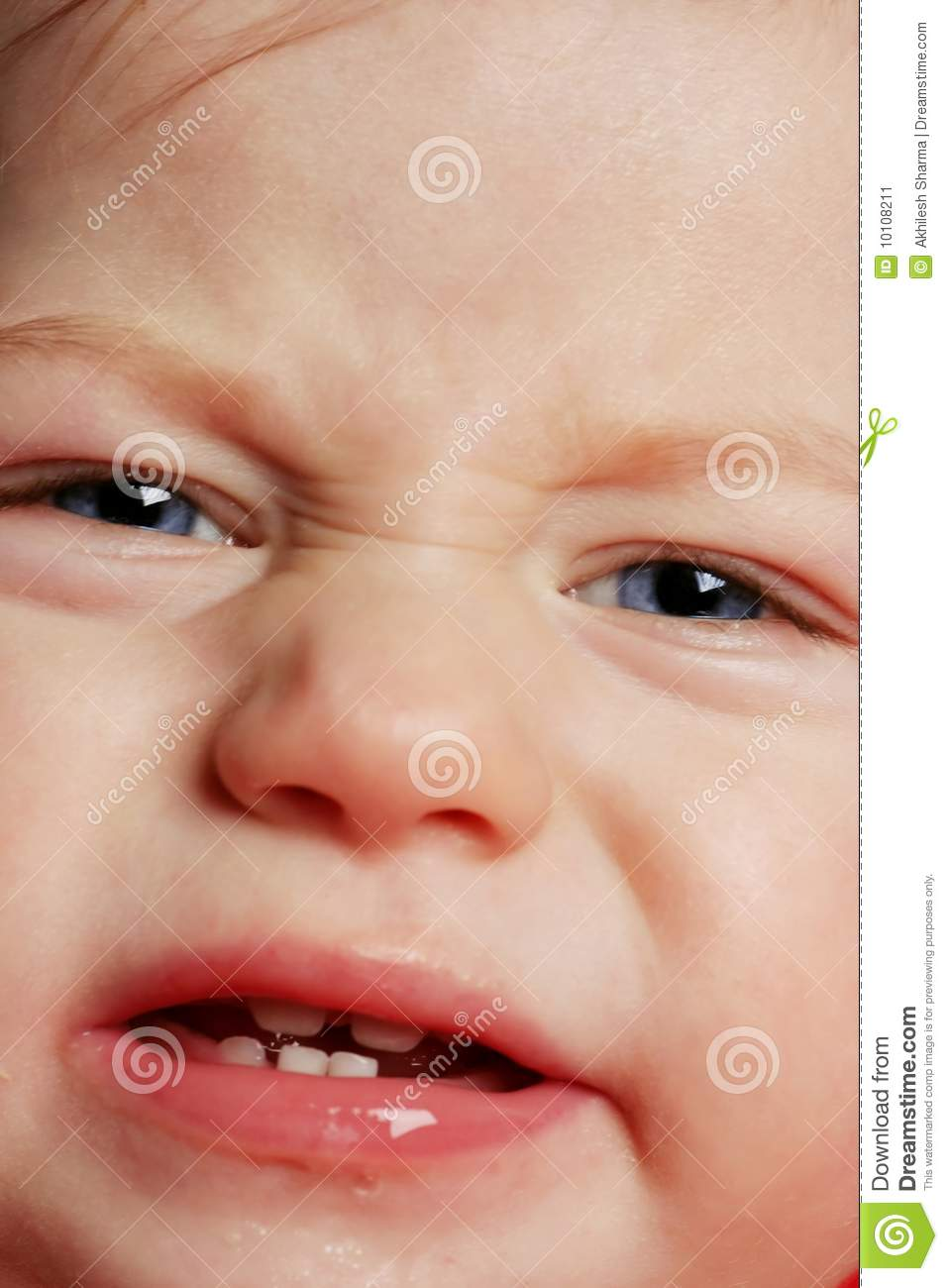 Face Closeup Of A Crying Baby Stock Image - Image: 10108211