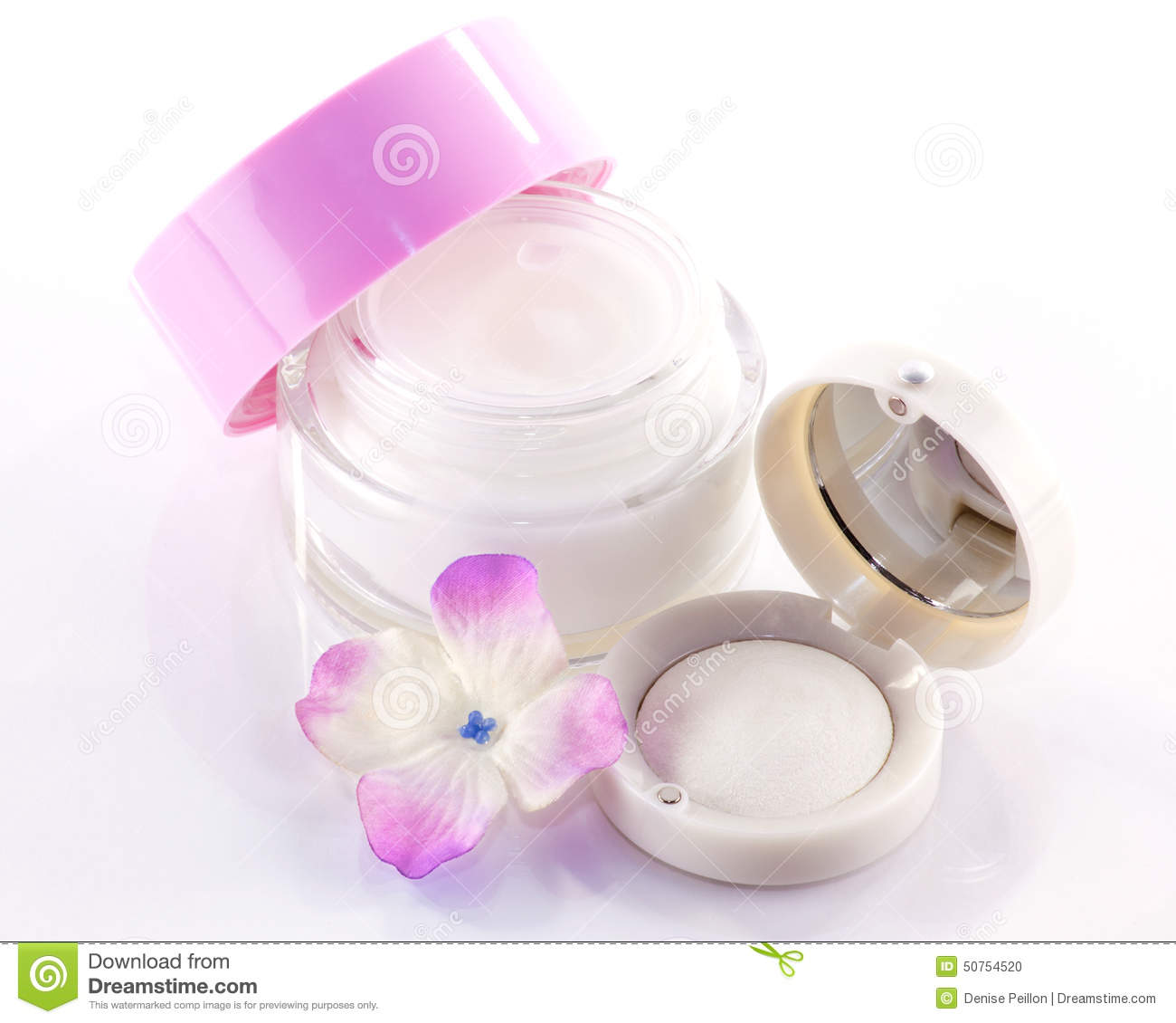 Face-cream and eyeshadow