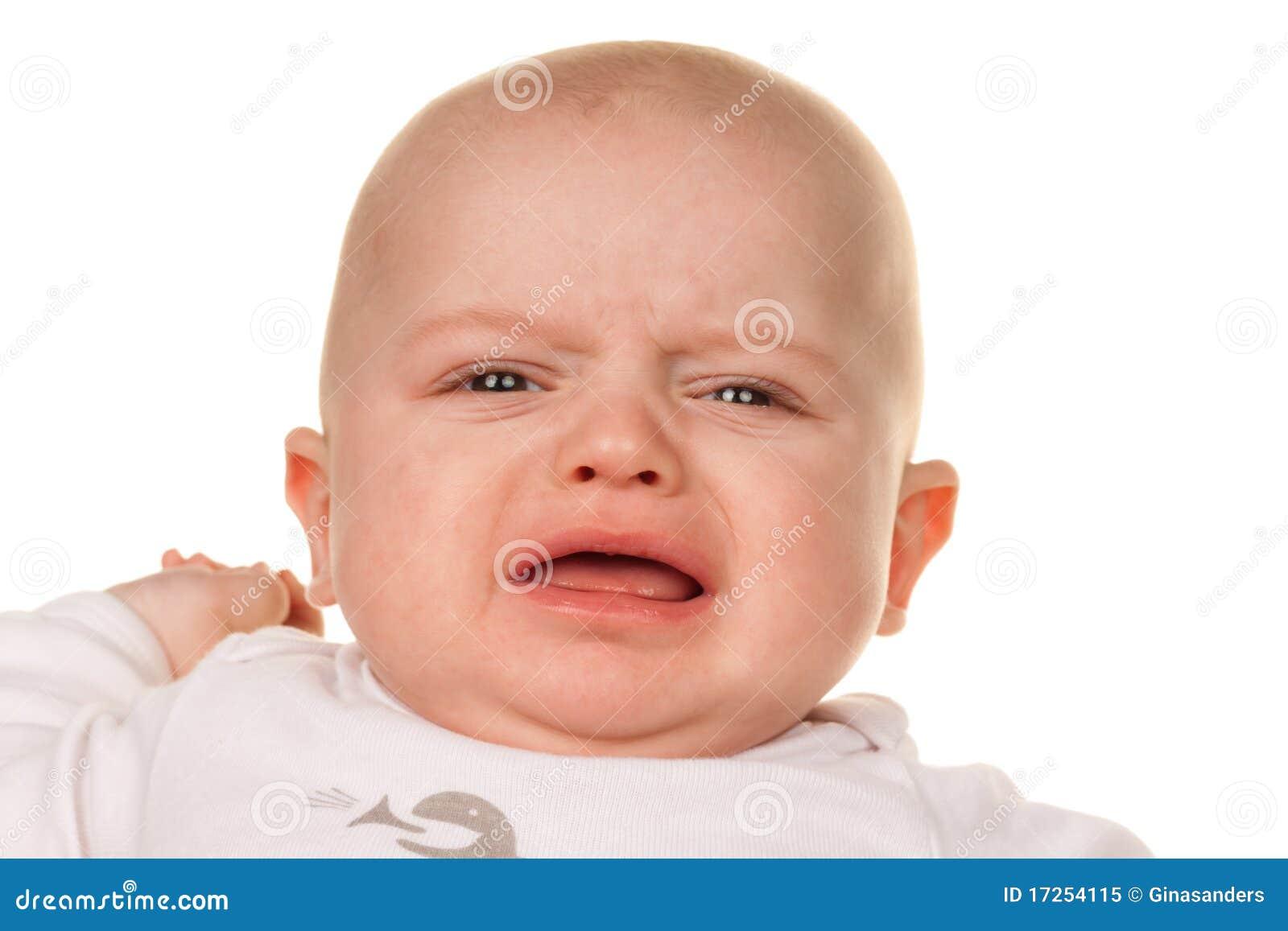 Face of a crying sad b...