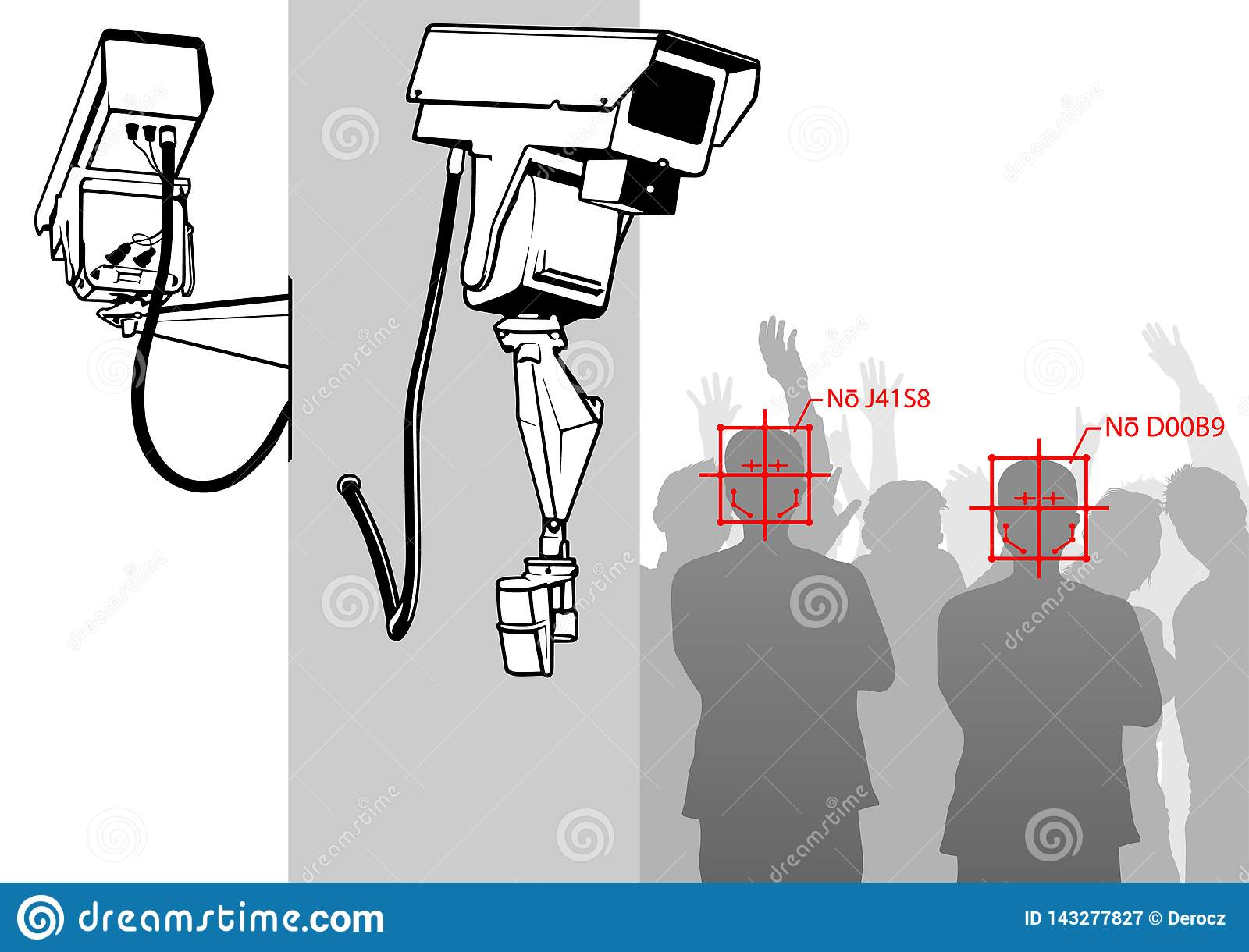 Face Detection With Camera System Stock Vector - Illustration of