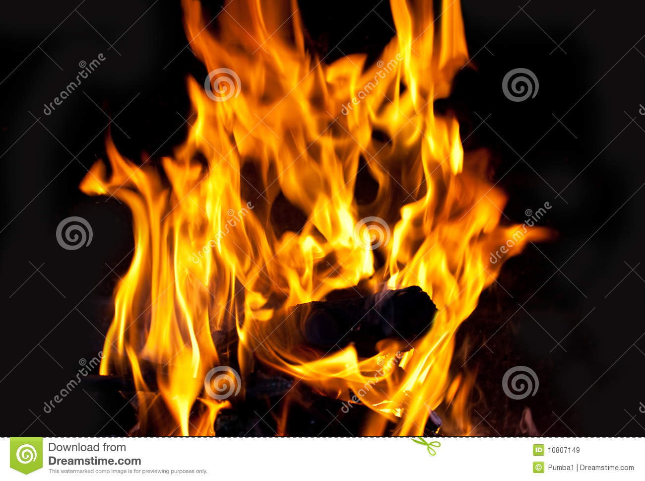 The Face Of A Devil On Fire Stock Image - Image: 10807149