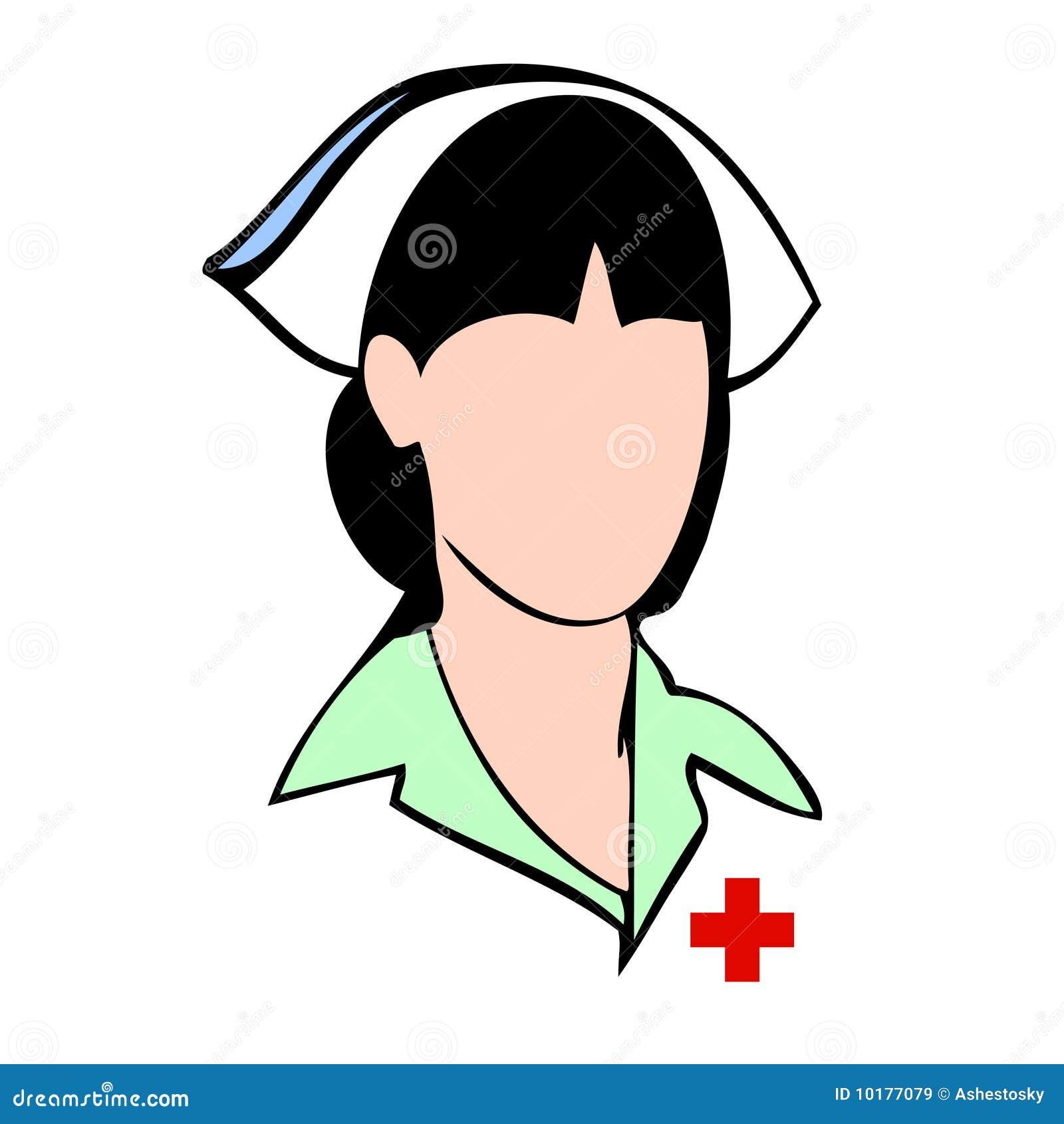 Face Do Avatar Do Vetor Da Enfermeira Ilustração Do Vetor