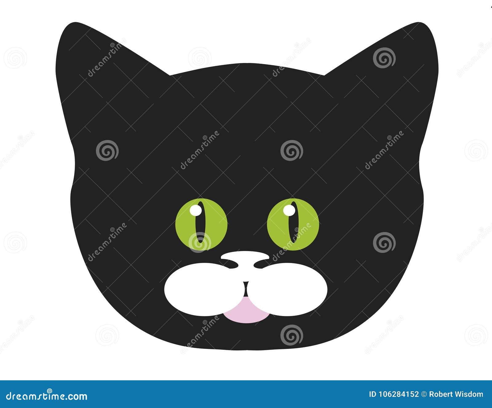 Face do gato preto