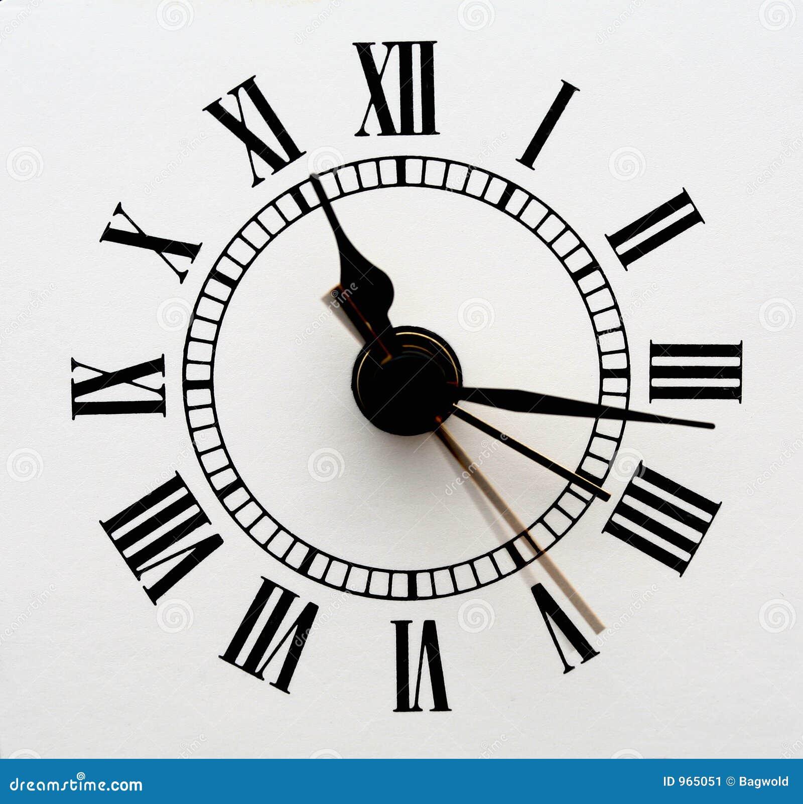 Face do relógio velha