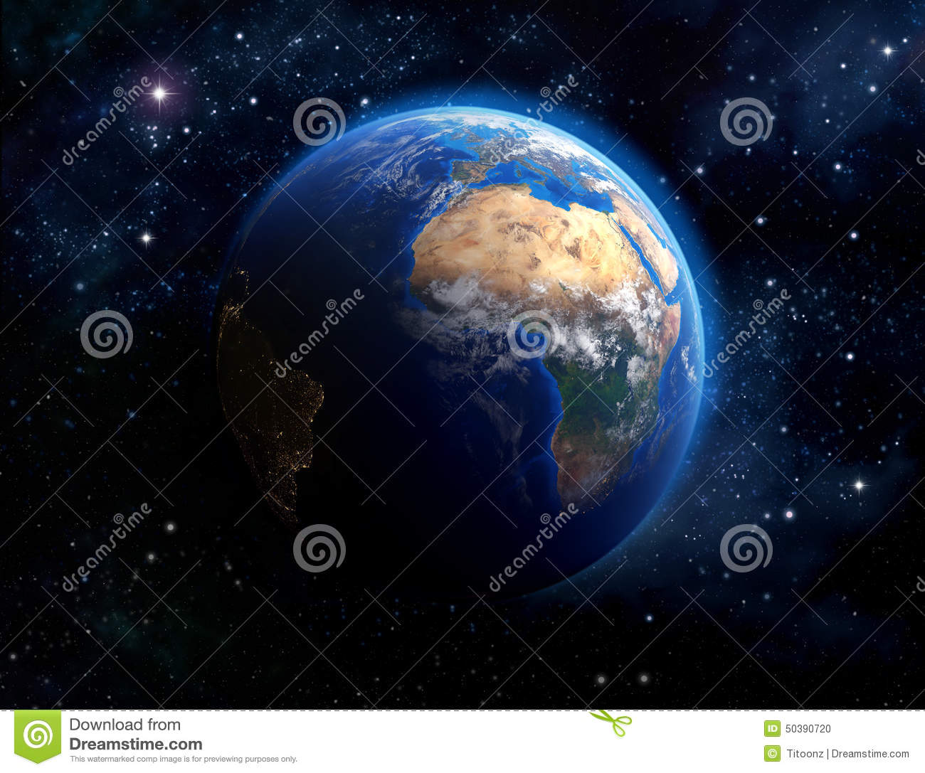 Face of the earth stock photo image 50390720 for Outer space elements