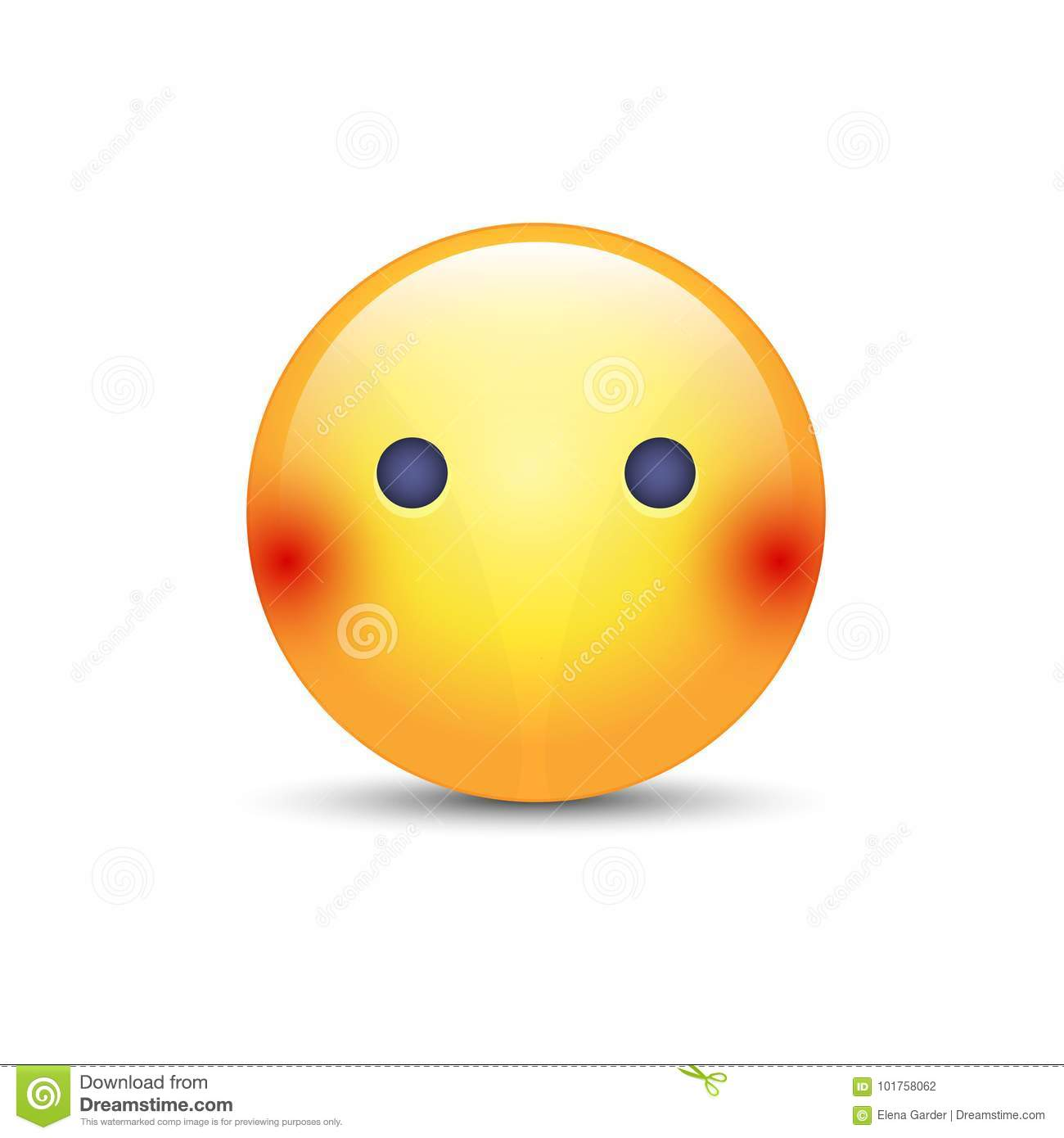 Face Emoji Without Mouth Cartoon Vector Silent Emoticon Smiley