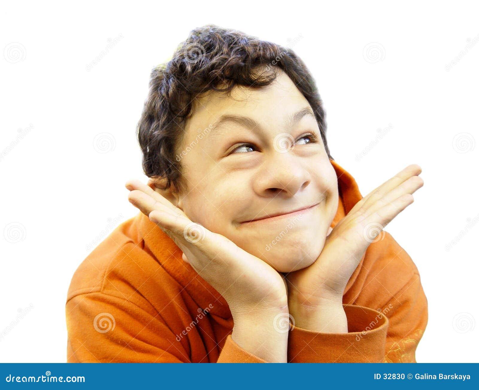 Face engraçada com nariz grande
