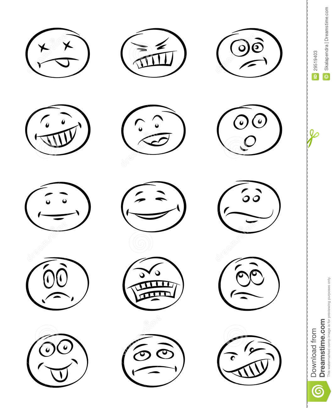 Face Expression Stock Vector Illustration Of Comical