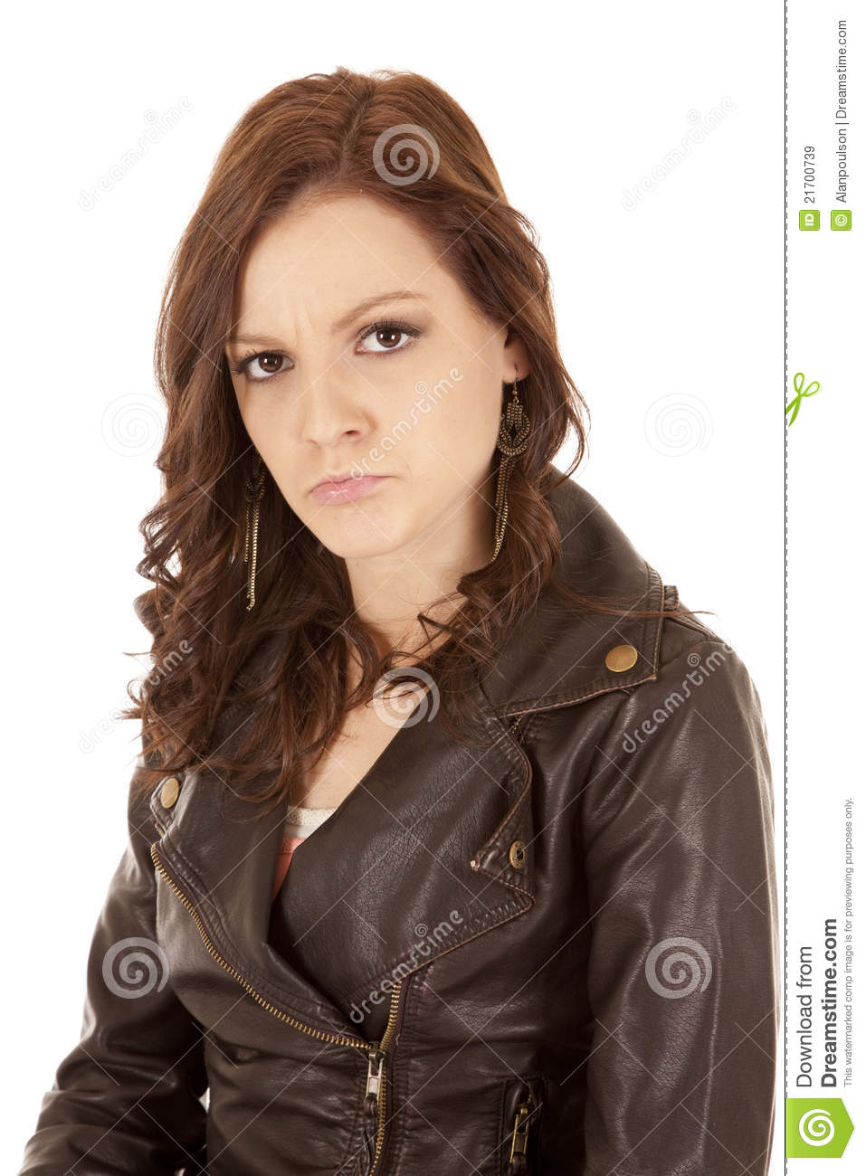 Face Expression Woman Pout Royalty Free Stock Images