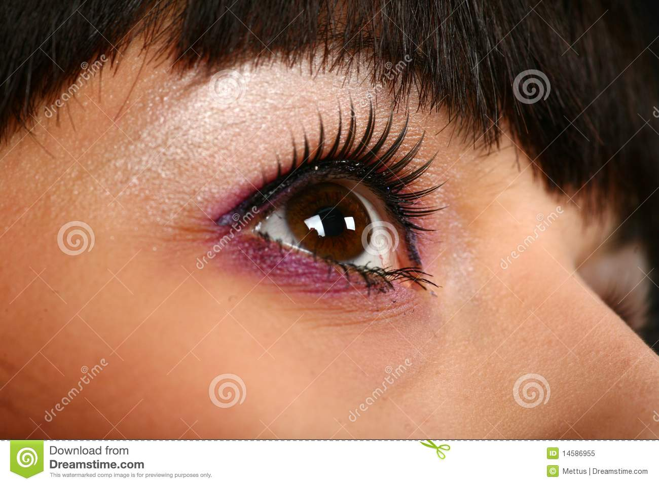 Face With Focus On Eye Royalty Free Stock Photo - Image ...