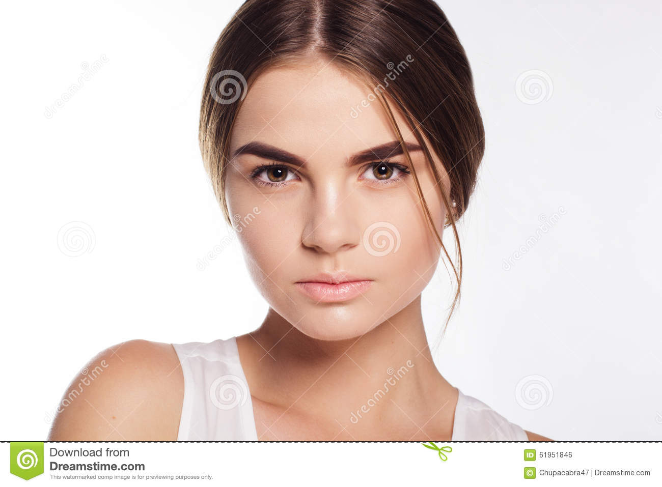 Face Of Girl With Light Makeup Stock Photo - Image 61951846-8443