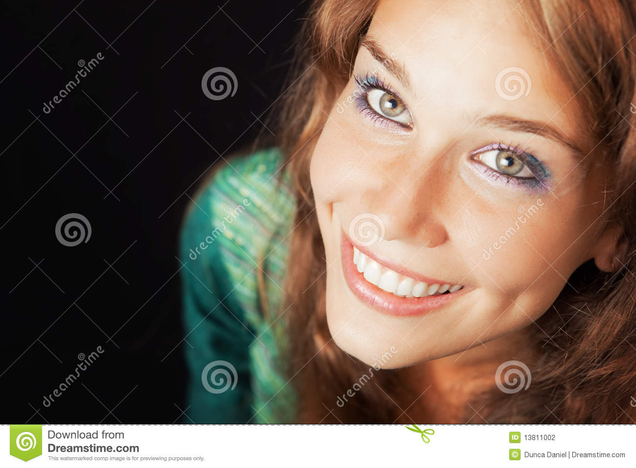 Face Of Happy Joyful Young Friendly Woman Stock Photo ...