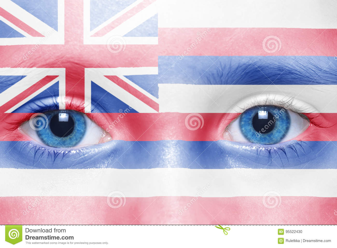 Face with hawaii state flag