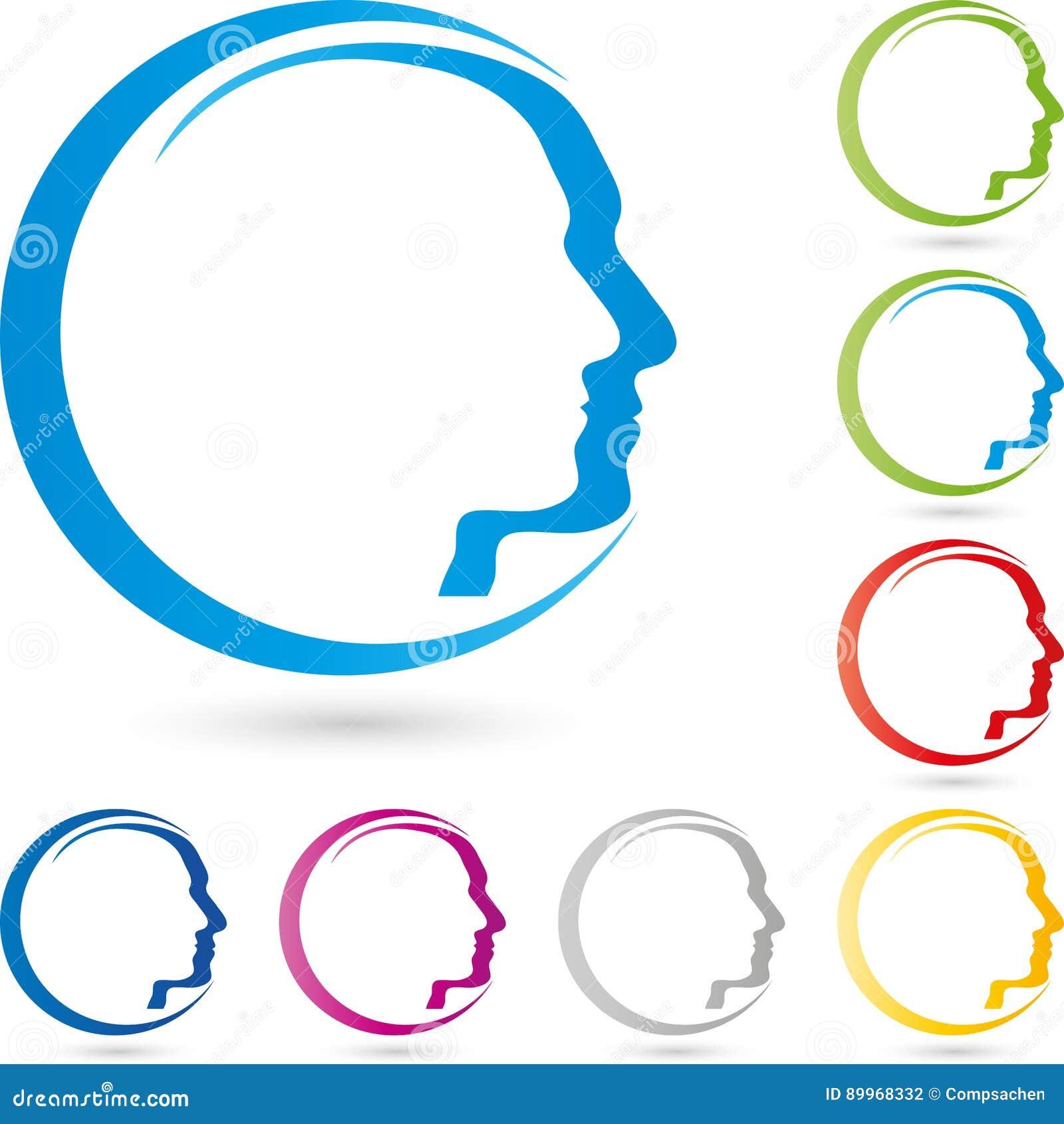 Face, Head, Human, Face Logo Stock Vector - Illustration