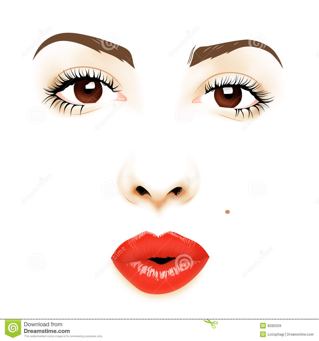 Face Illustration Royalty Free Stock Images