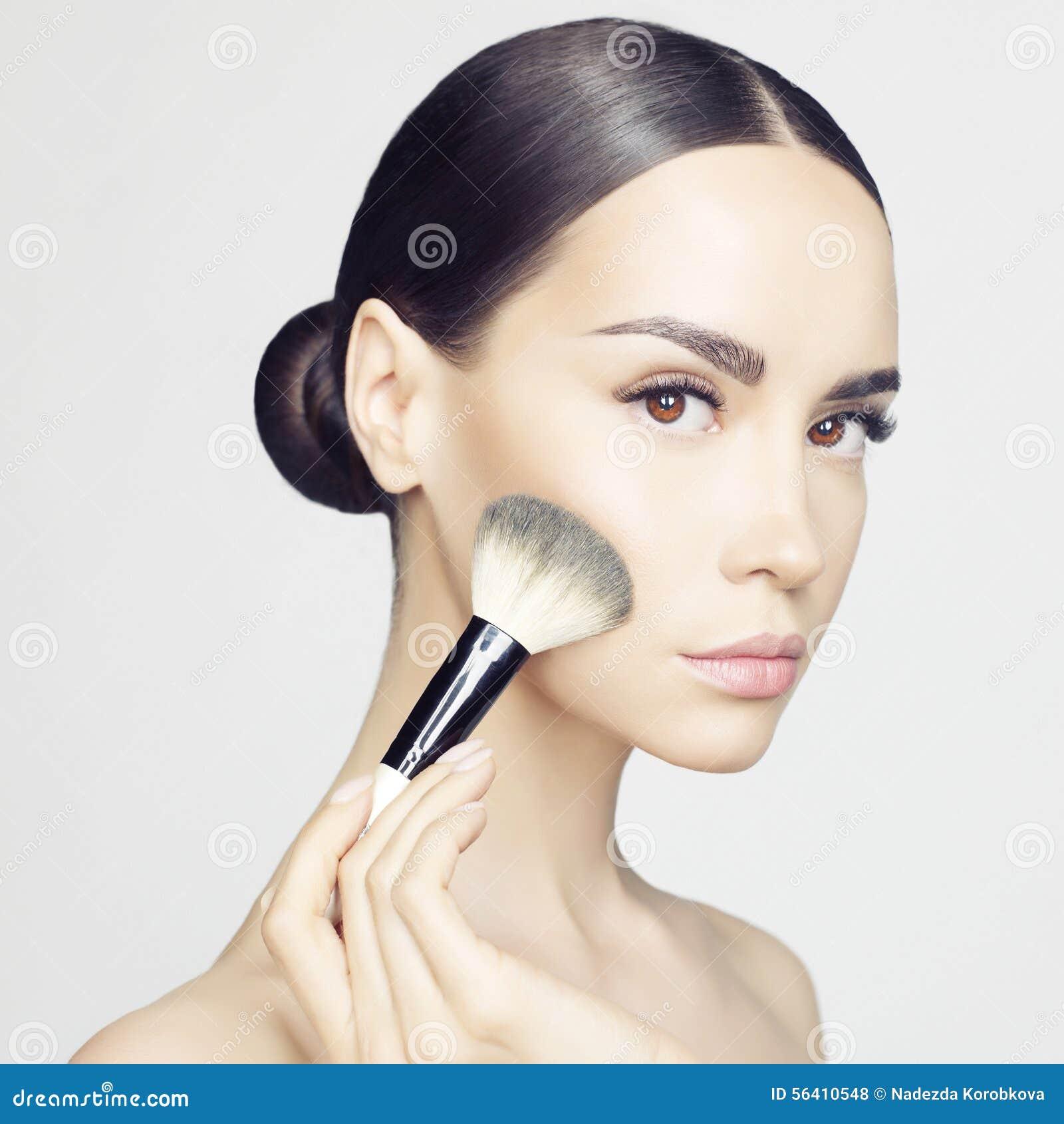 Face Makeup Stock Photo