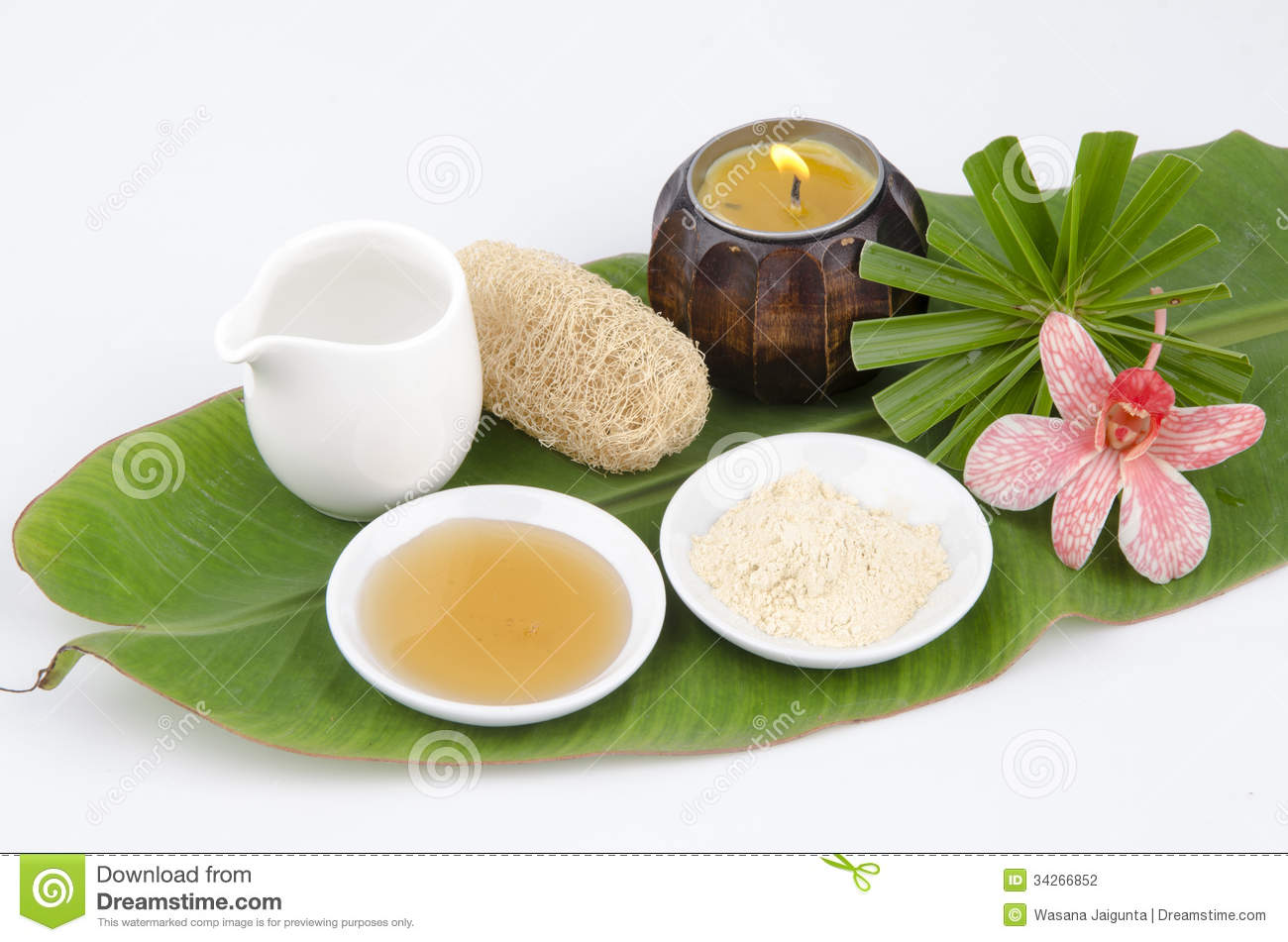 Face Mask Recipe With Tanaka, Honey, Water. Facial Spa ...