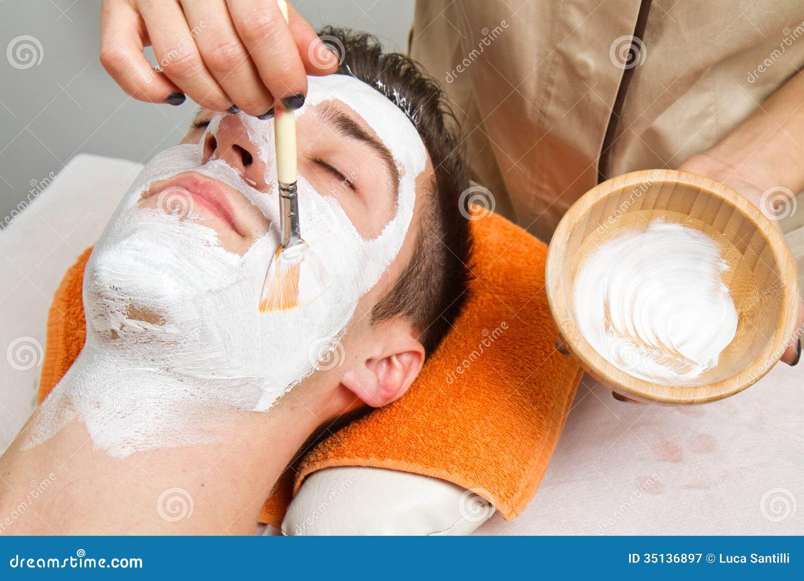 Face facial for men