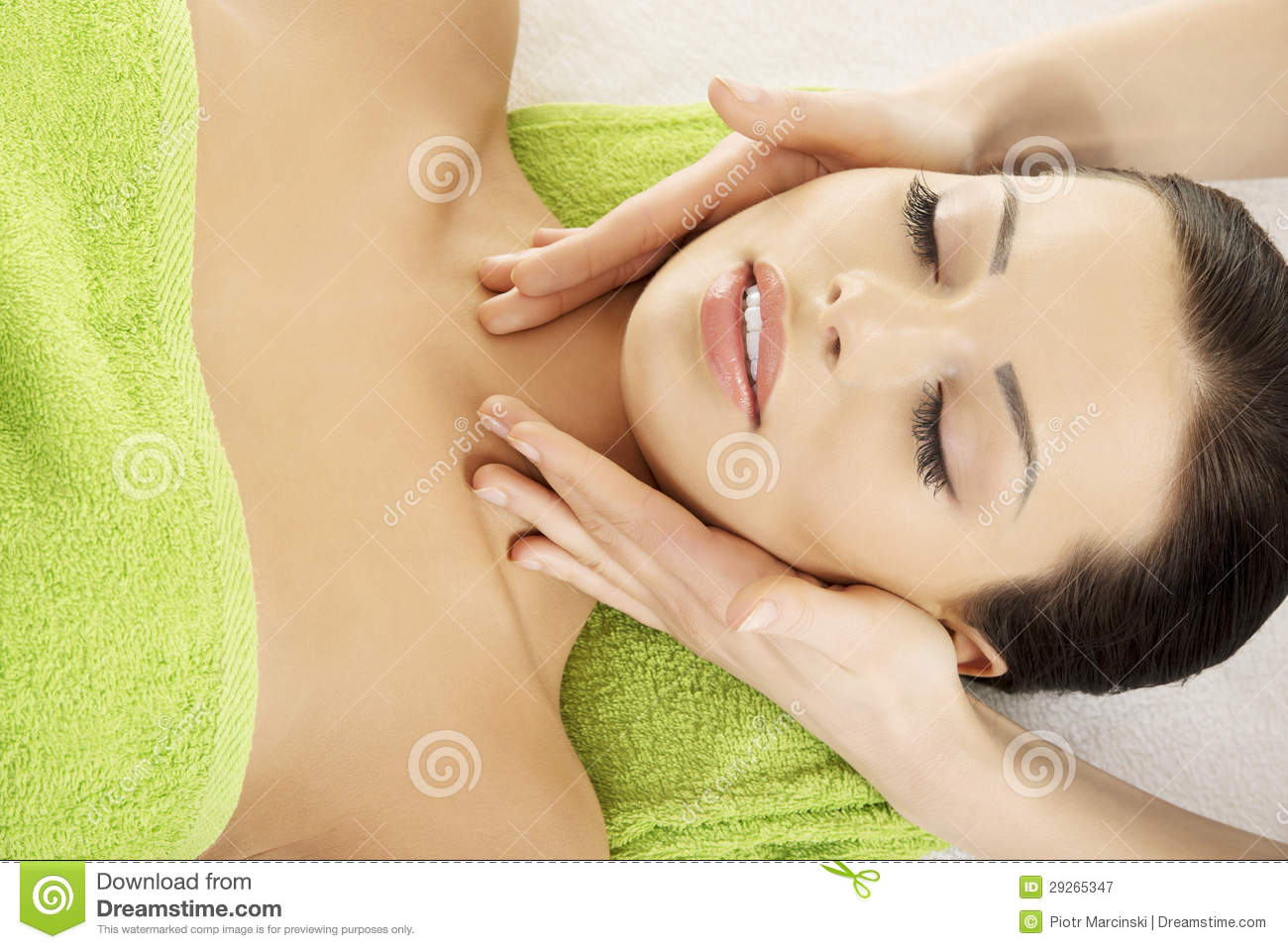 face massage therapy at spa saloon royalty stock photography face massage therapy at spa saloon