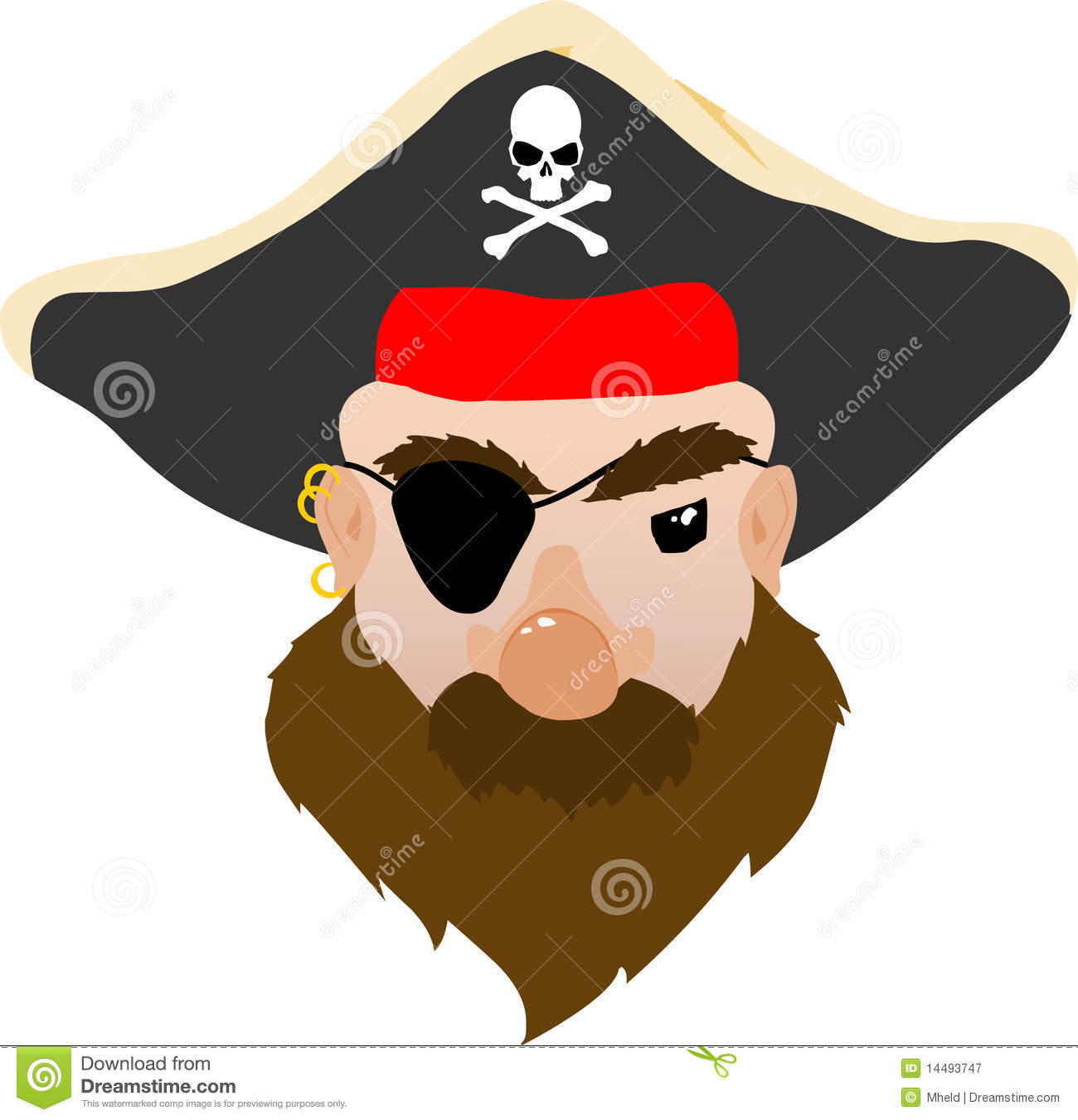 Pirate face vector - photo#28