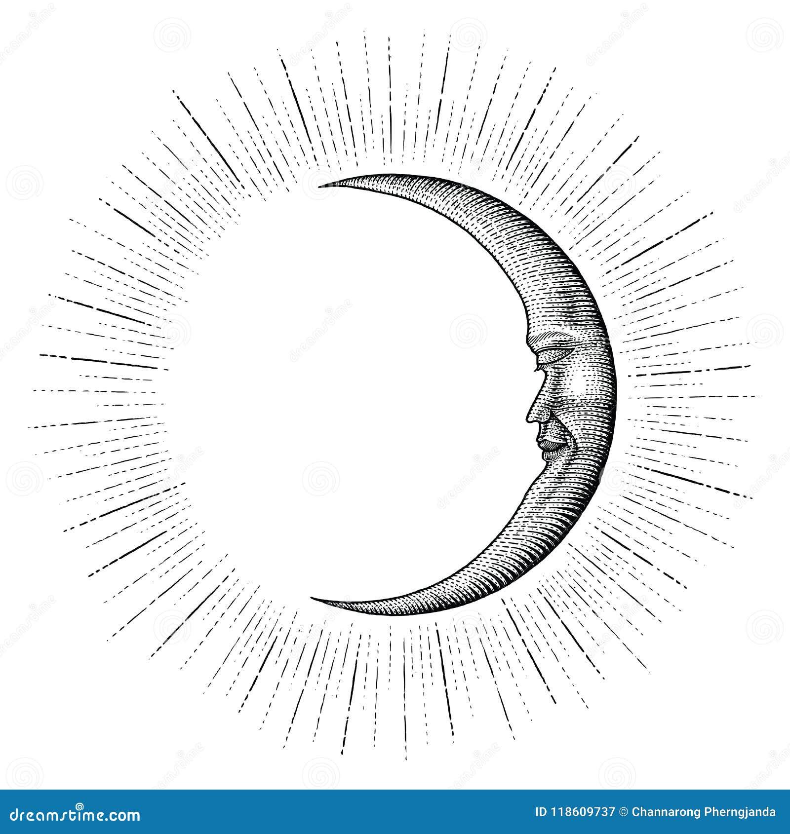Moon Drawing Stock Illustrations 50 439 Moon Drawing Stock Illustrations Vectors Clipart Dreamstime