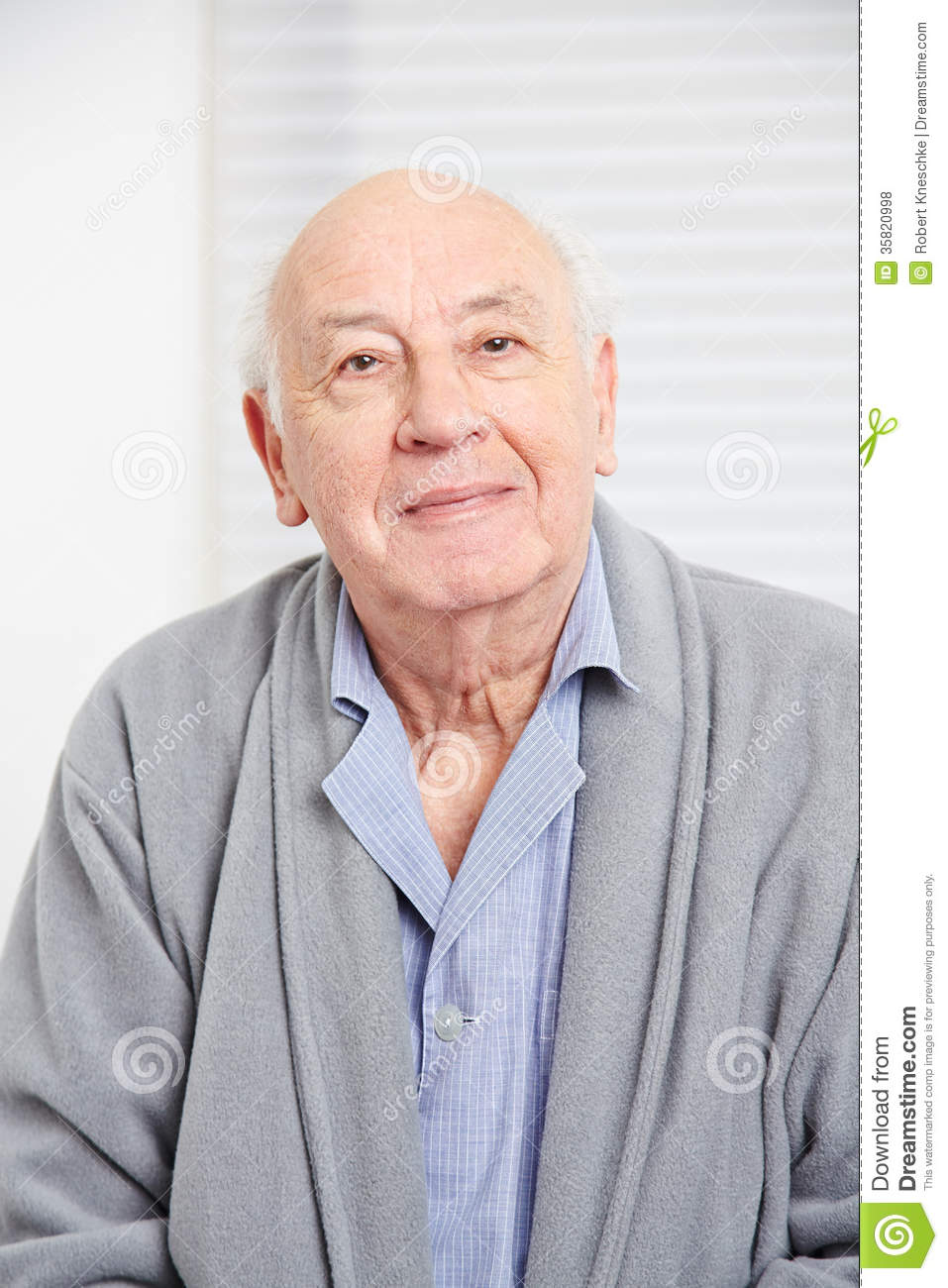 Face of an smiling old man in a retirement home Old Man Face Smiling