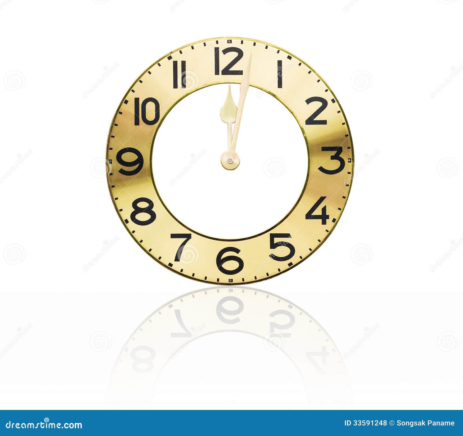 Face Old Wall Clock Royalty Free Stock Photos Image