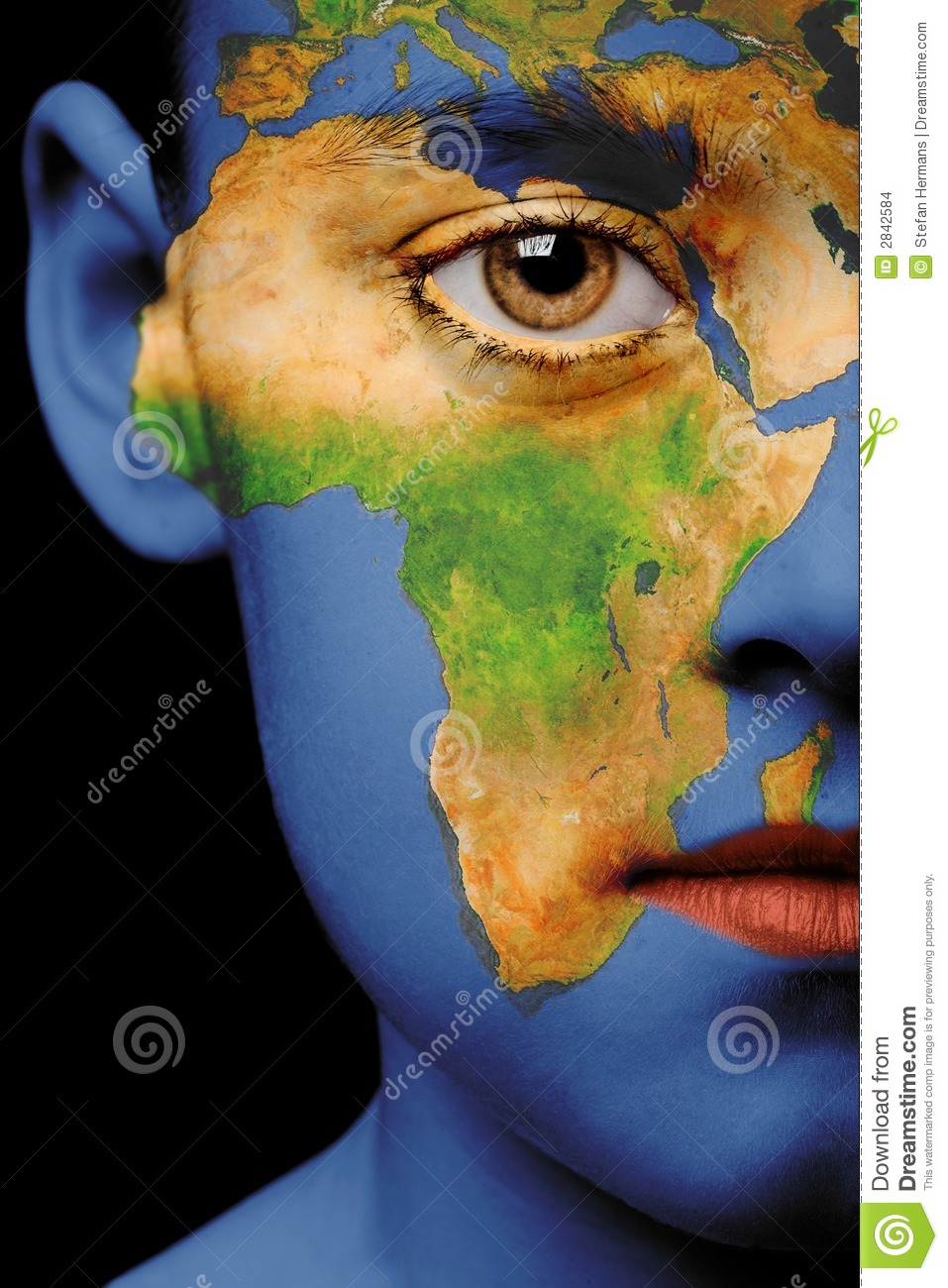 Face paint   africa stock photo. Image of girl, young   2842584