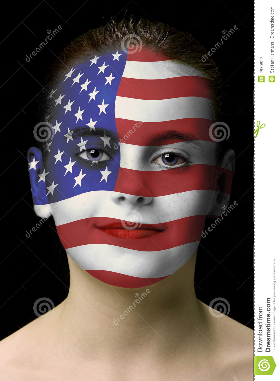 Face paint : american flag