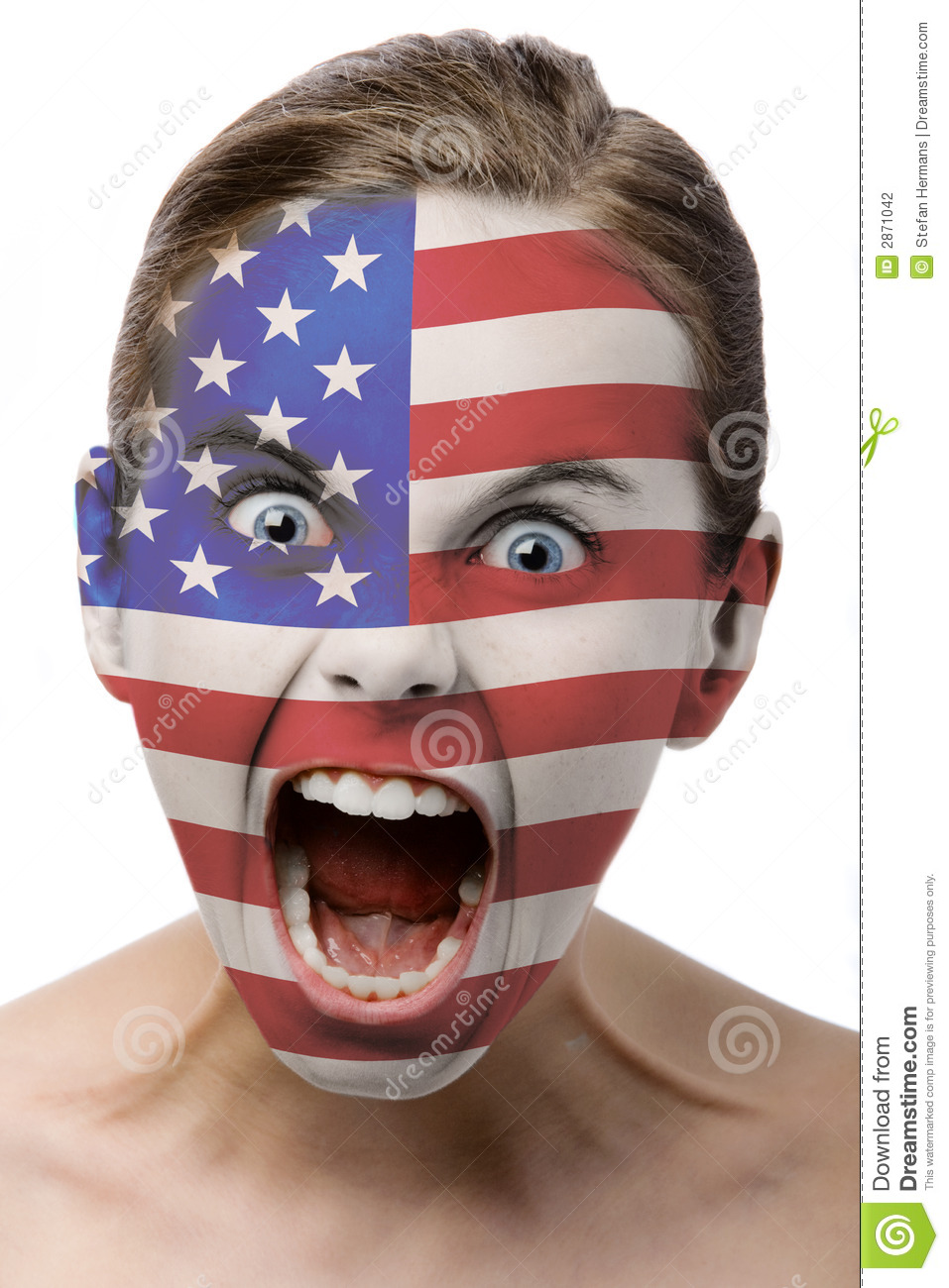 Face Painted With Argentind Flag