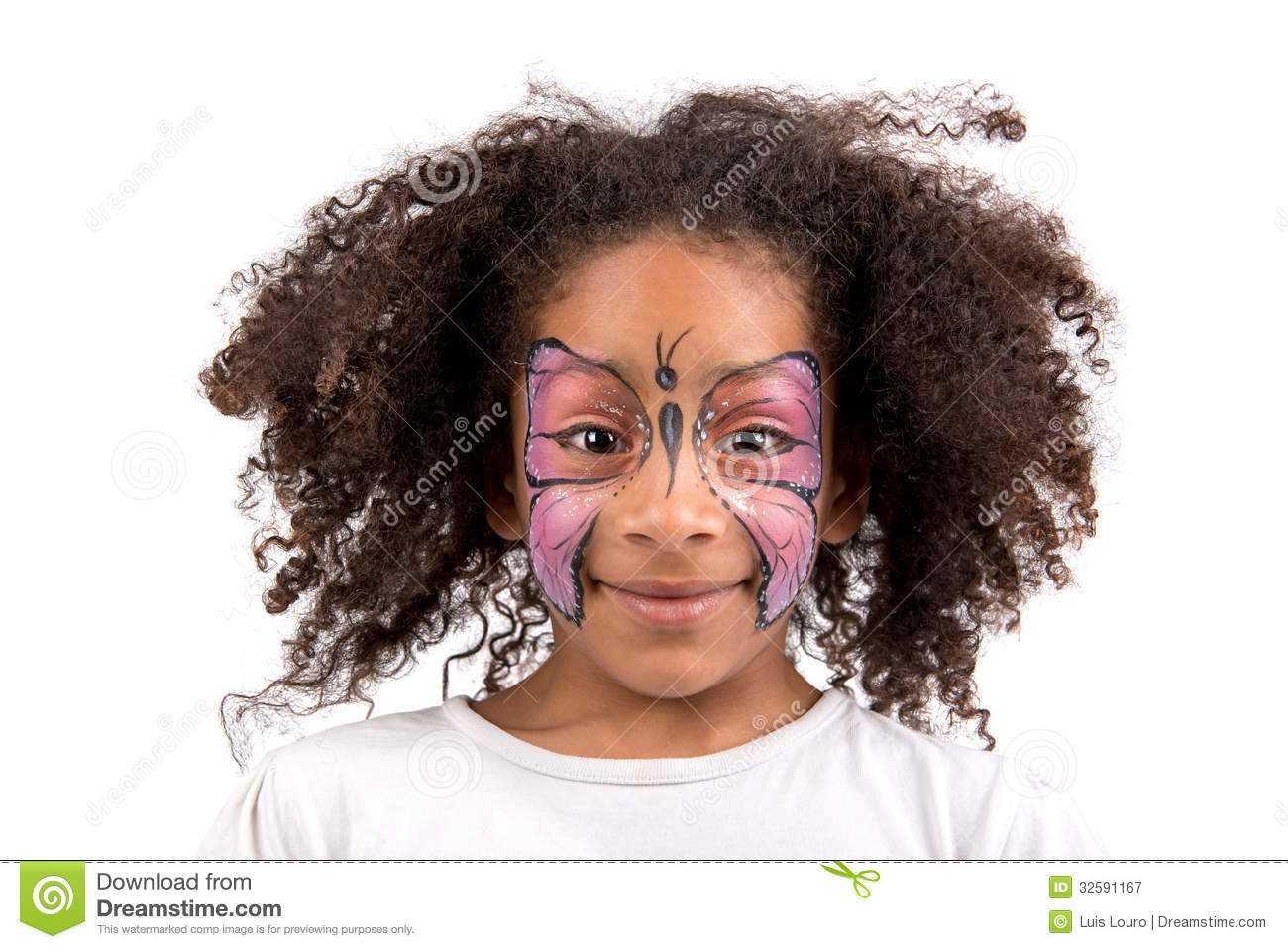 Face painting, butterfly