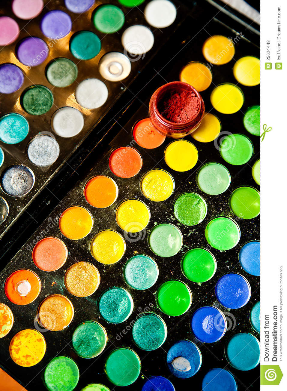 Face painting paints stock photo image of brush child for Face paints supplies