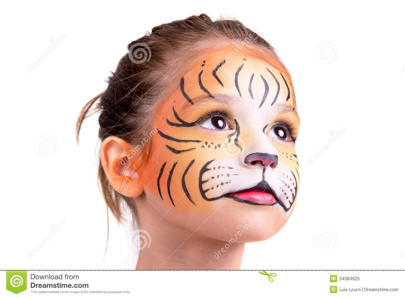 Face Paint Easy Tiger