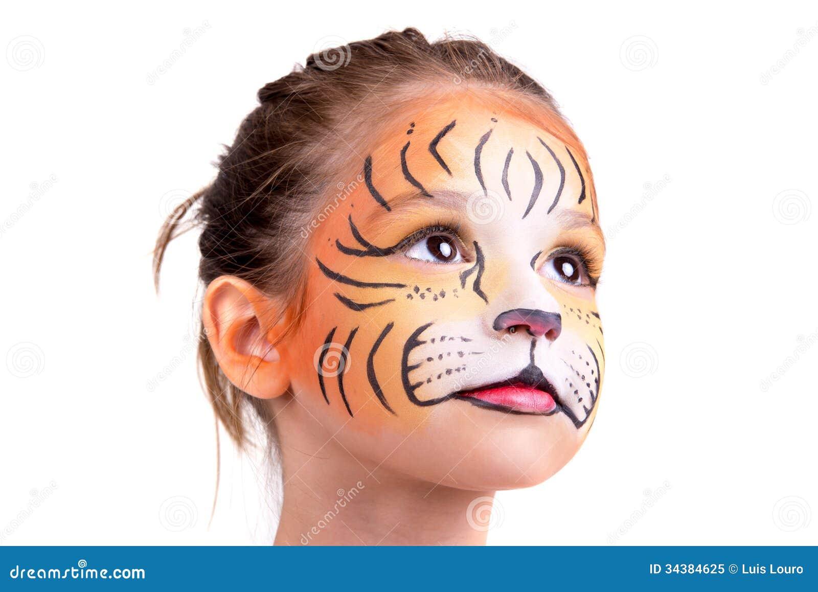 Рисунки на лице для девочек в домашних условиях