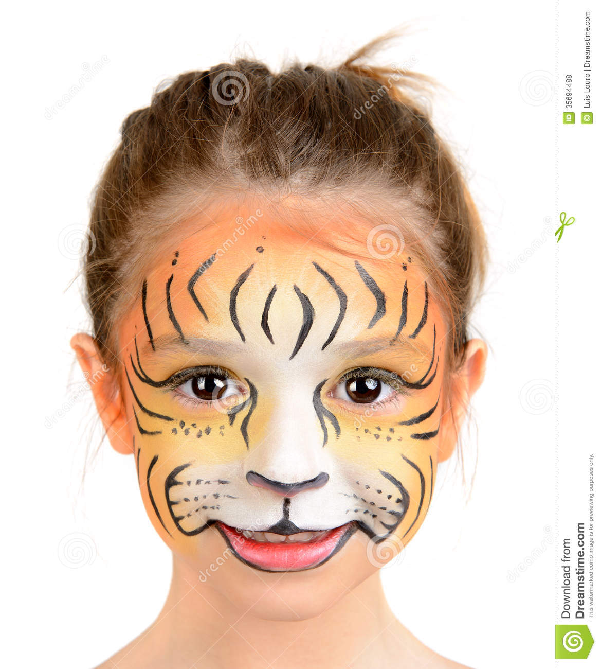 Face Painting Tiger Royalty Free Stock Photos Image