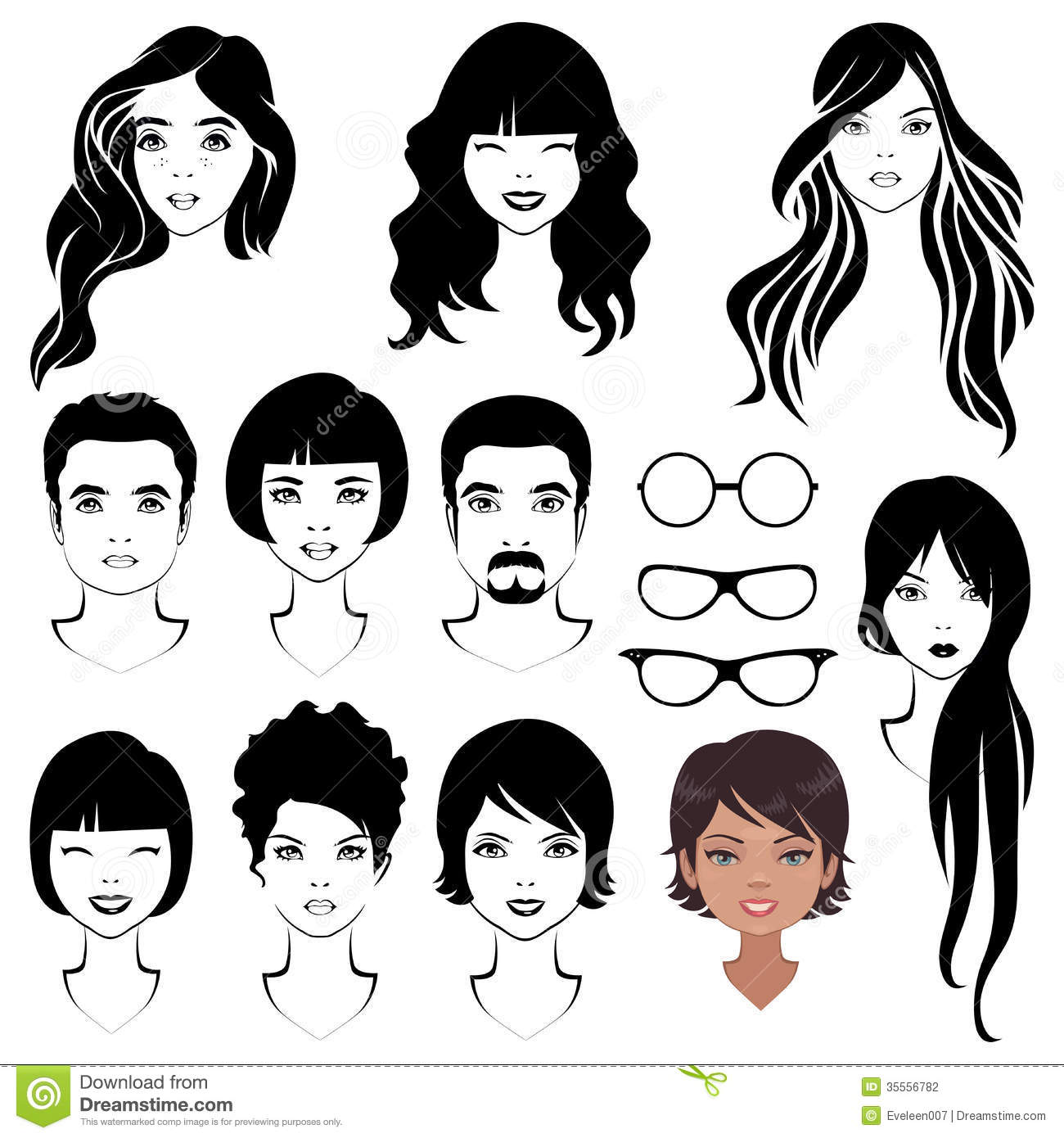 Face Parts Head Character Stock Photography Image 35556782