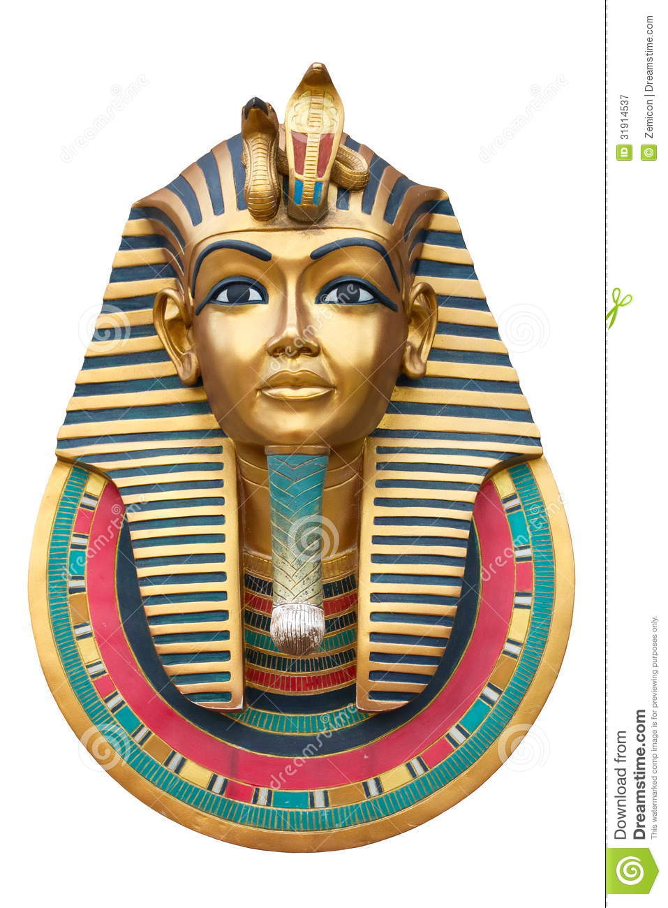 Face Of A Pharaoh Royalty Free Stock Photography Image