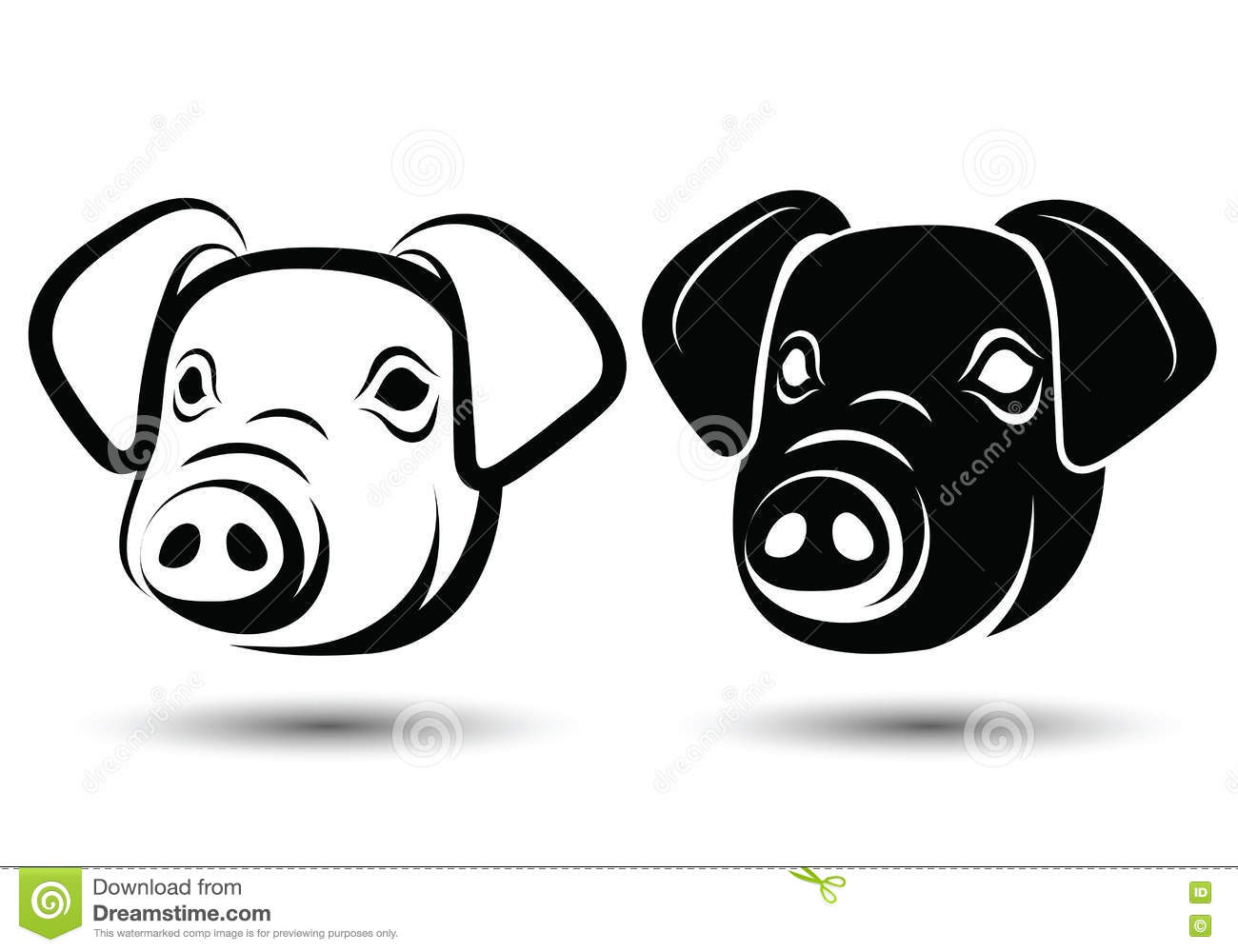 Line Drawing Of A Pig Face : Face pig cartoon vector cartoondealer