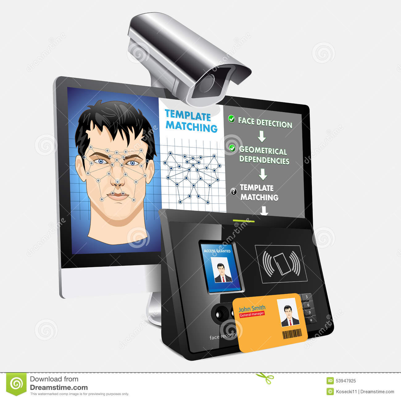 Face Recognition Stock Vector Image 53947925