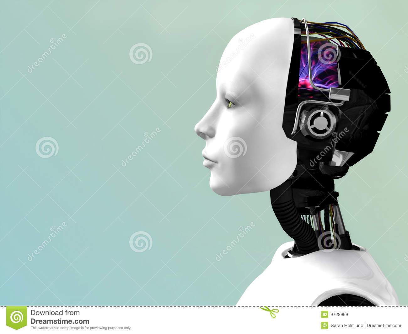 The Face Of A Robot Woman Royalty Free Stock Images