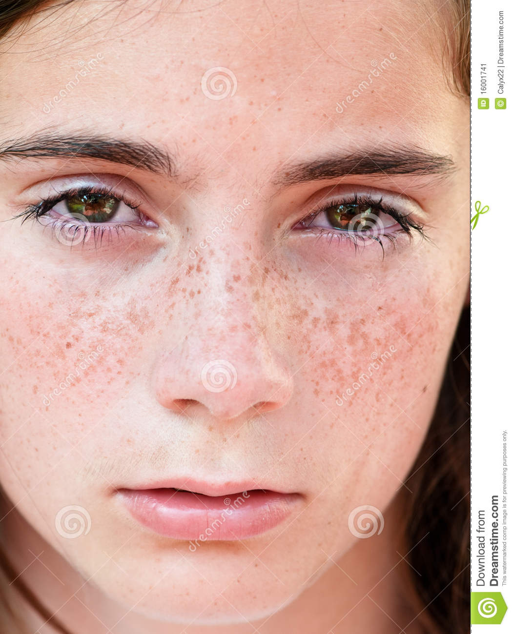the face of sadness stock image